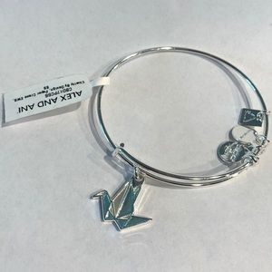 ALEX AND ANI Silver bracelet with Origami charm